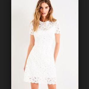 Jack Wills Tremayne White Lace Tea Dress